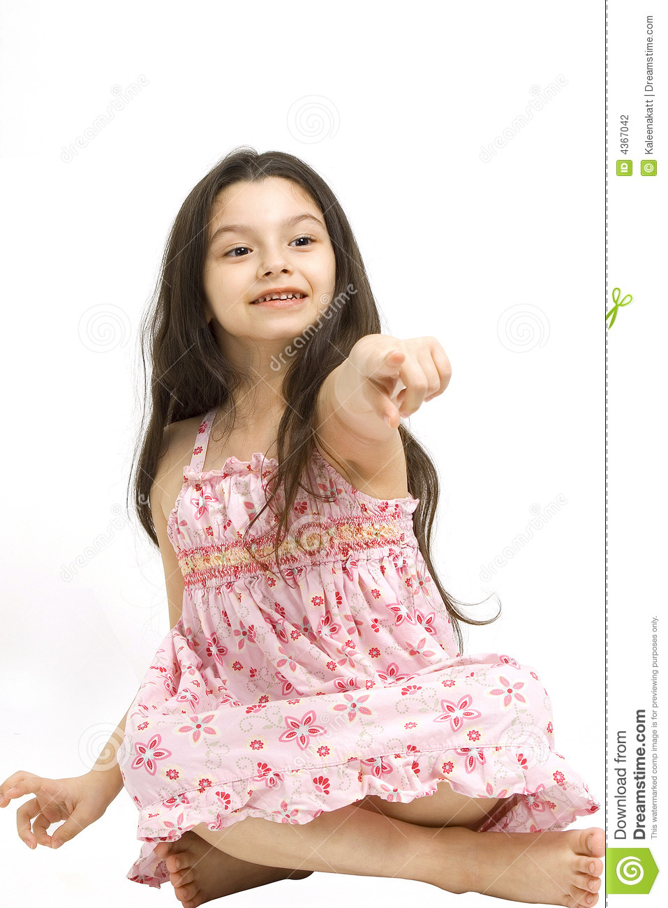 youngster girls Cute young girl pointing