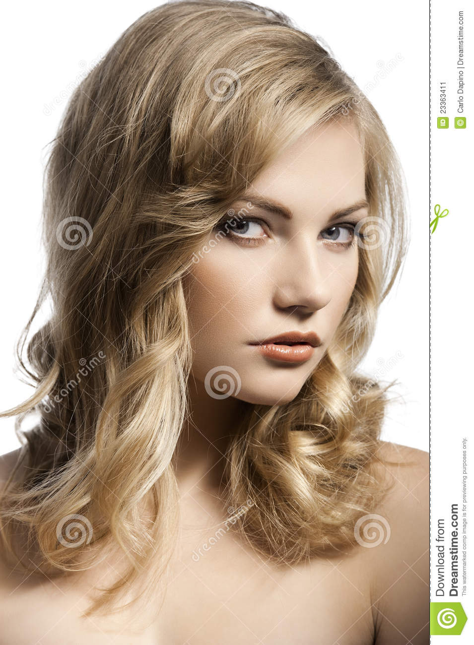 cute young girl with stylish hair stock image image 23363411. Black Bedroom Furniture Sets. Home Design Ideas
