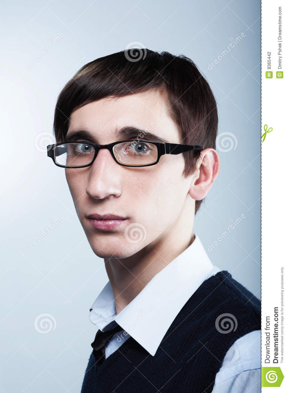 cute young guy wearing glasses stock photography