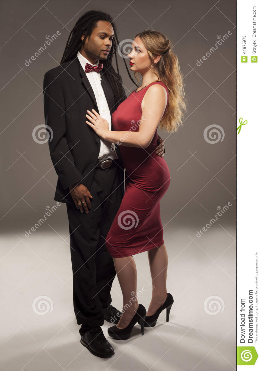 Beautiful Sexual Naked Couple Attractive Woman Stock Photo
