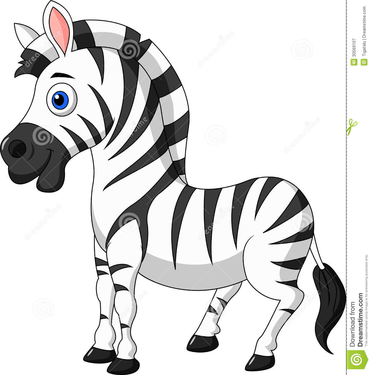 Cute zebra cartoon stock vector. Illustration of hoof ...