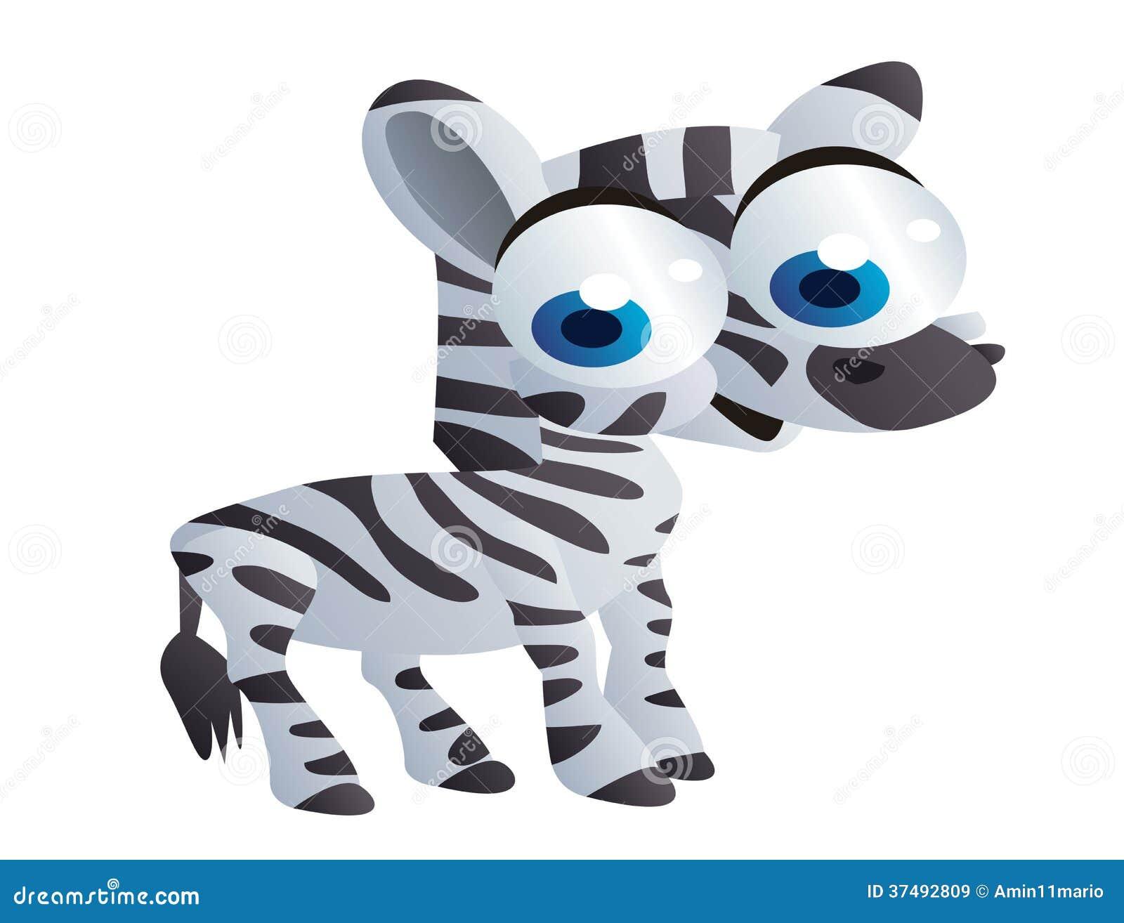 Cute Baby Zebra Cartoon Royalty Free Stock Vector Art