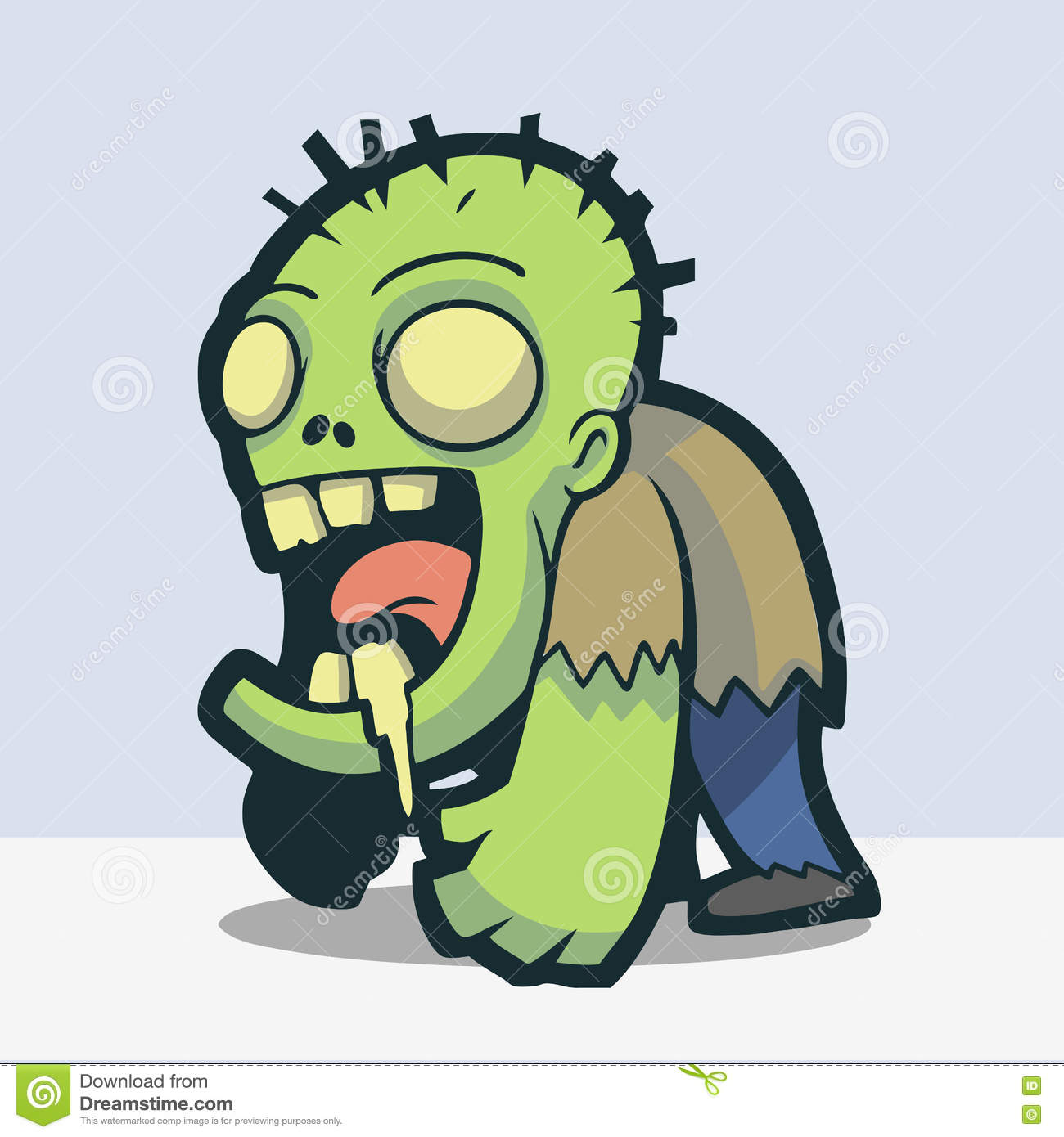 Cute zombie stock vector illustration of multiple crawling cute zombie kristyandbryce Choice Image