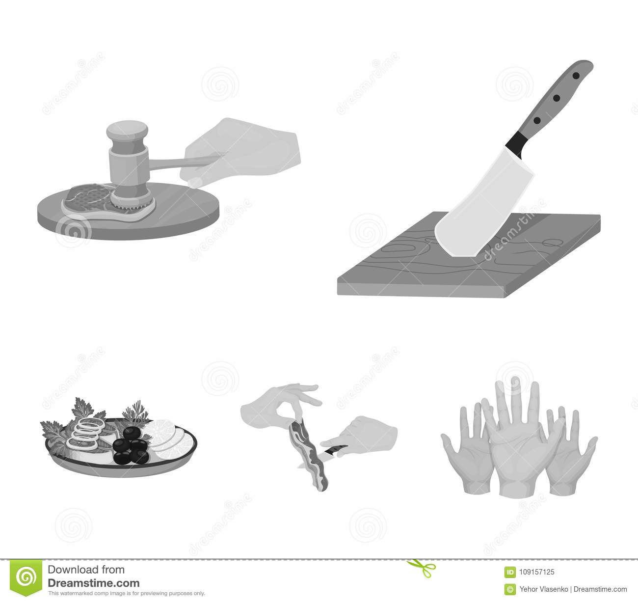Hammer with vegetables and others
