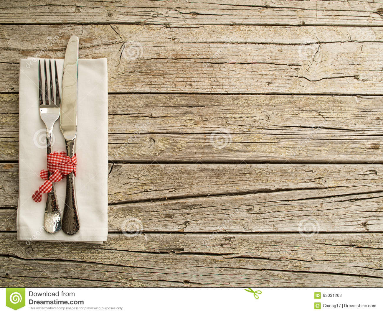 Wooden cutlery fork spoon cutting board vector