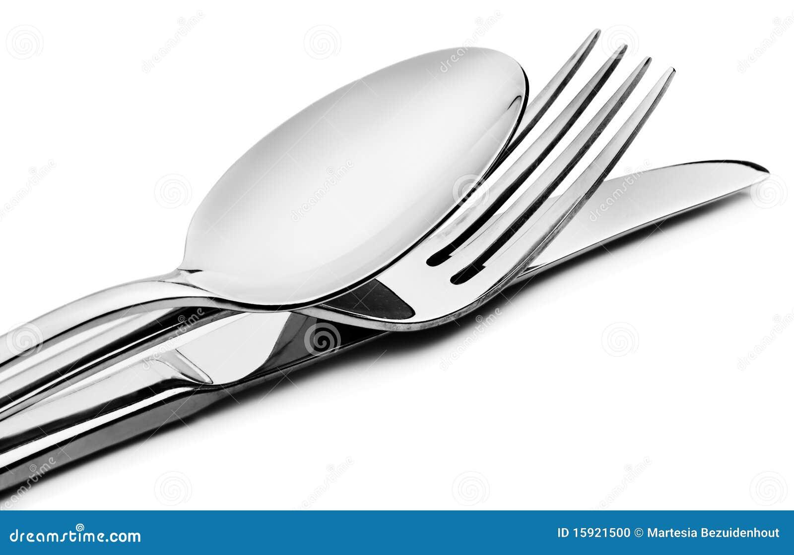 Cutlery rozwidlenia noża łyżka