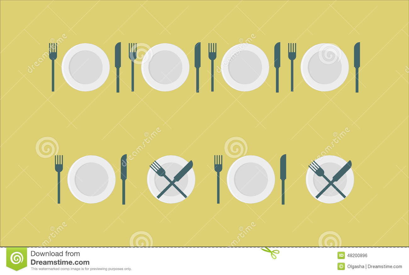 Royalty-Free Stock Photo  sc 1 st  Dreamstime.com & Cutlery Set - Plate Fork Knife Stock Photo - Image of cross ...