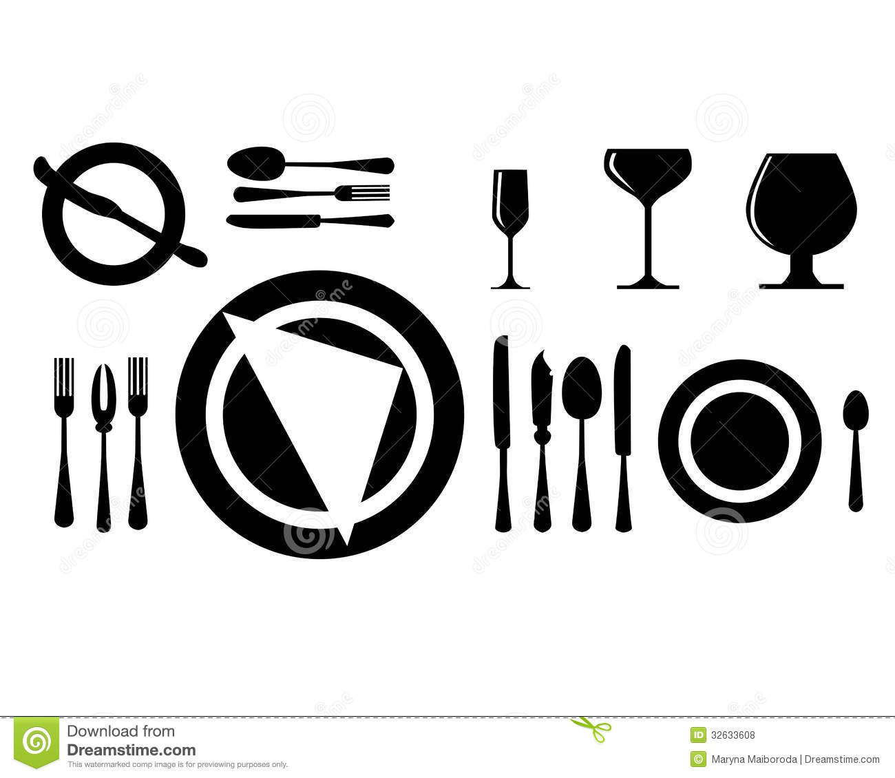 Cutlery Royalty Free Stock Photos Image 32633608 : cutlery vector black silhouettes etiquette no background 32633608 from www.dreamstime.com size 1300 x 1130 jpeg 85kB