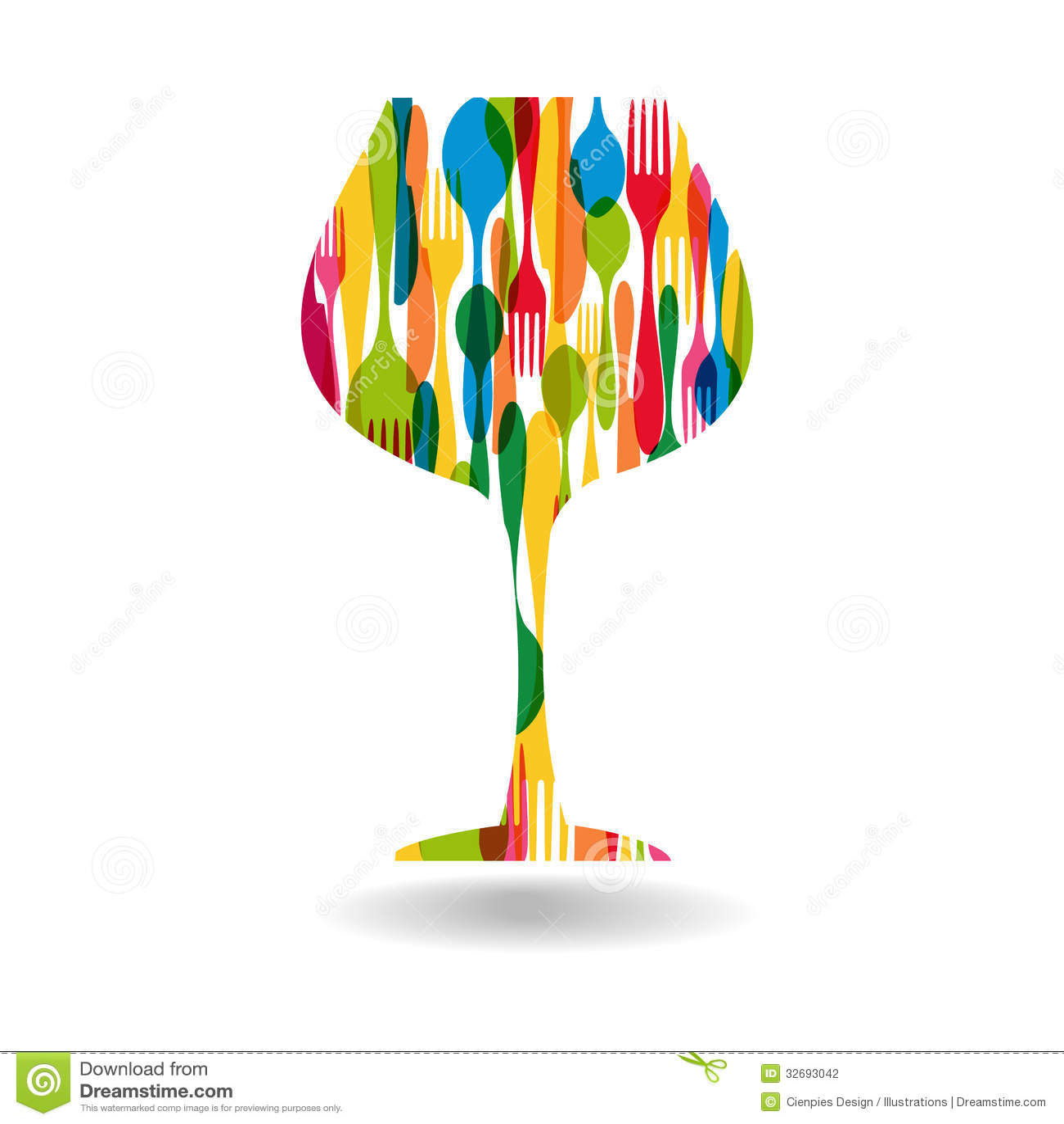 Cutlery Wine Glass Shape Illustration Stock Photography ...