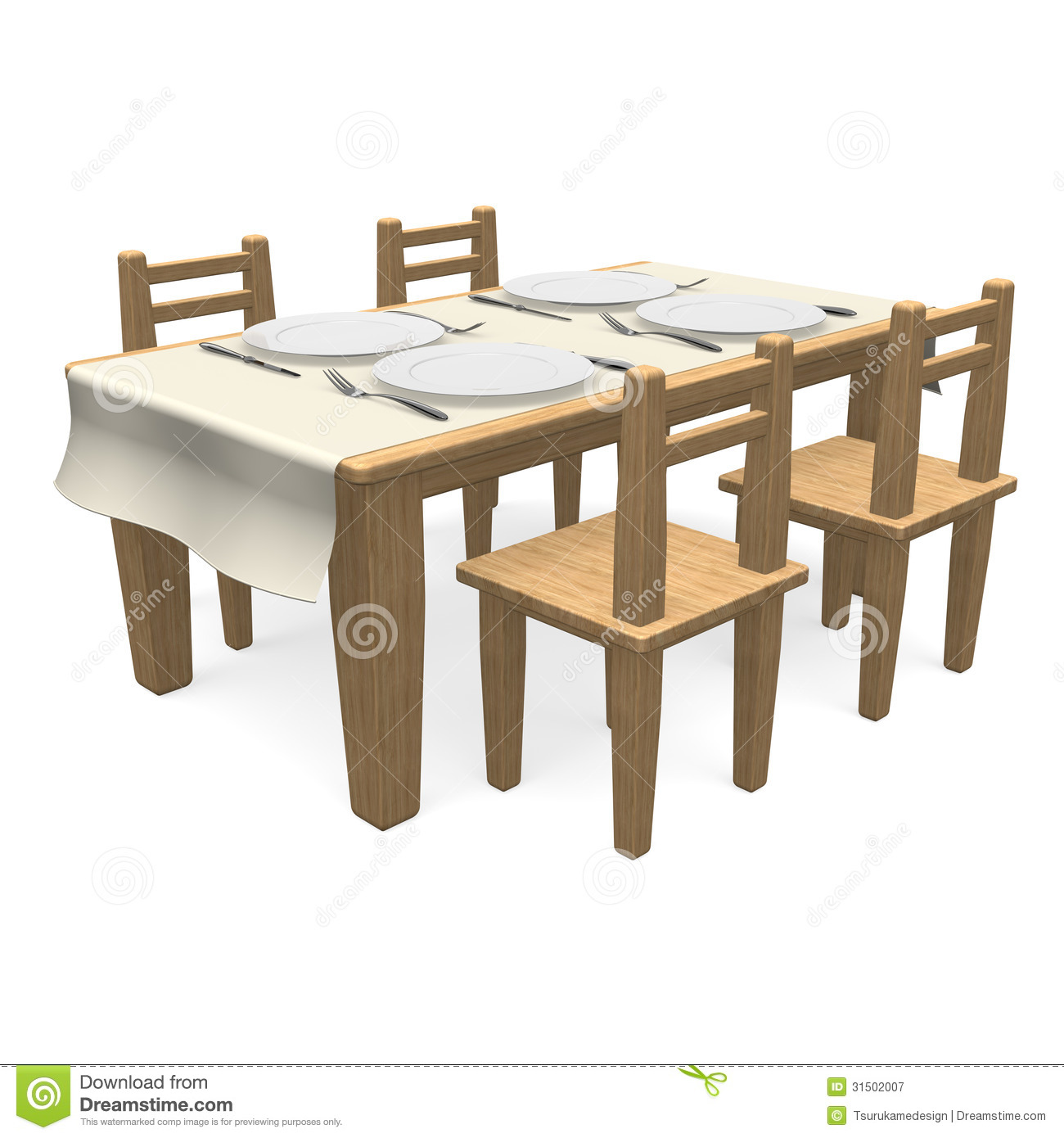 Cutlery On Wooden Dining Table Royalty Free Stock Photography