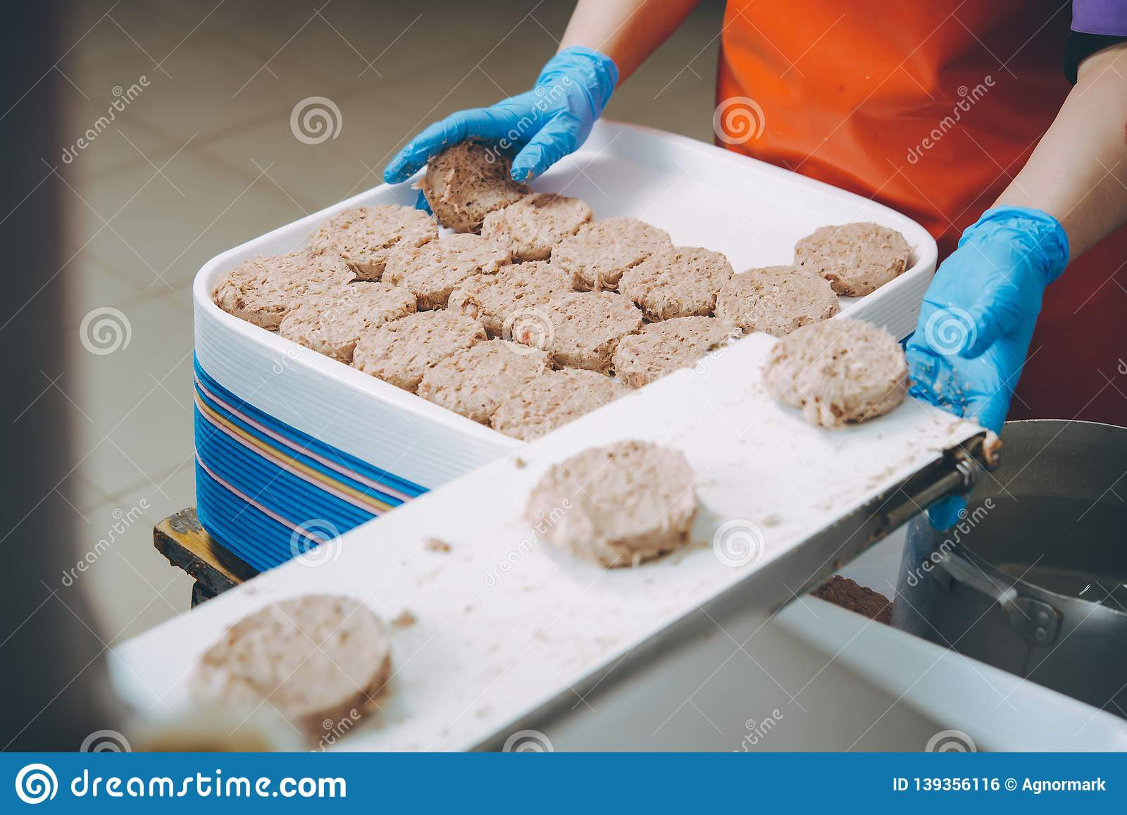 Cutlet making factory