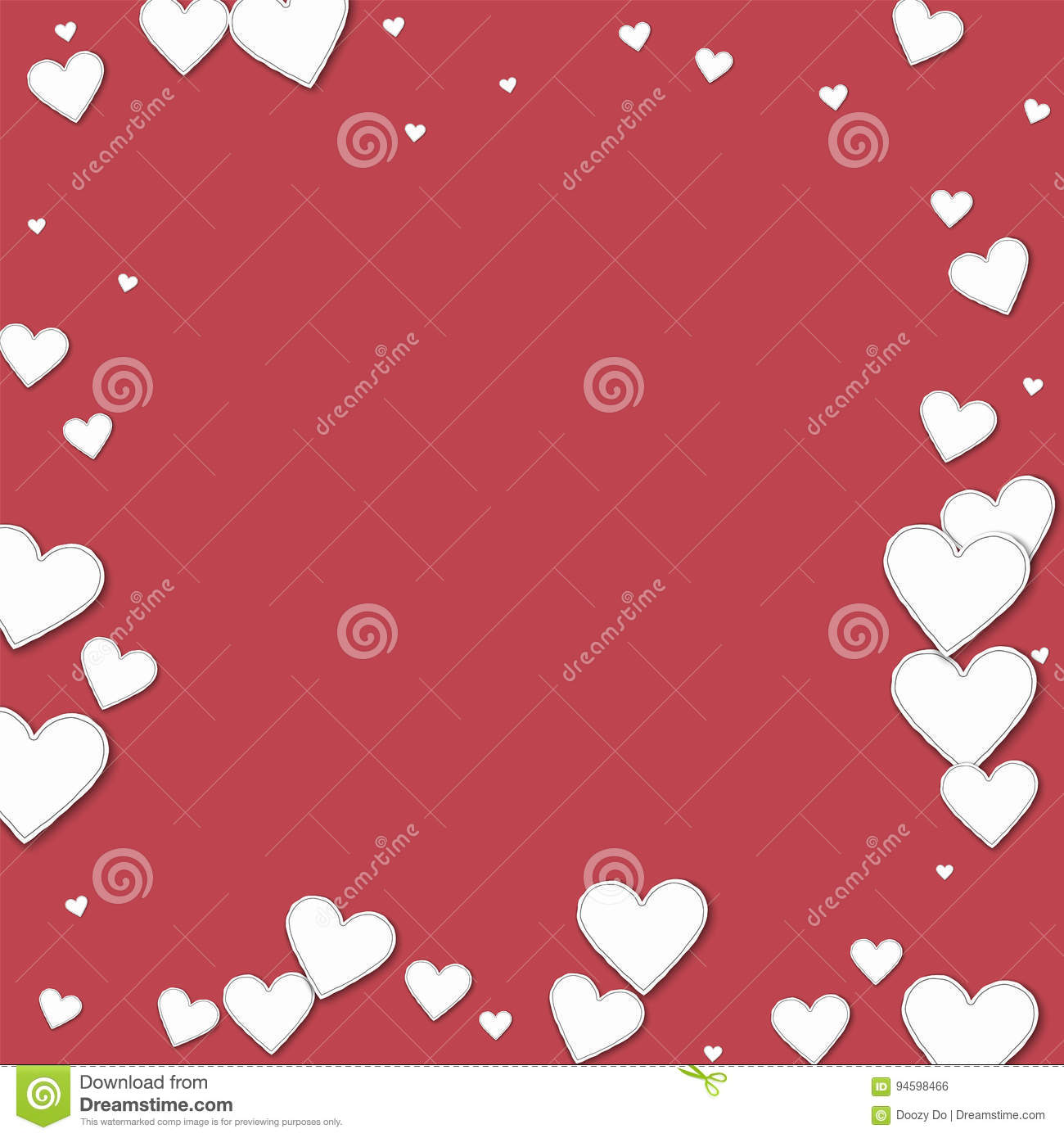 Cutout Paper Hearts Stock Vector Illustration Of Heart