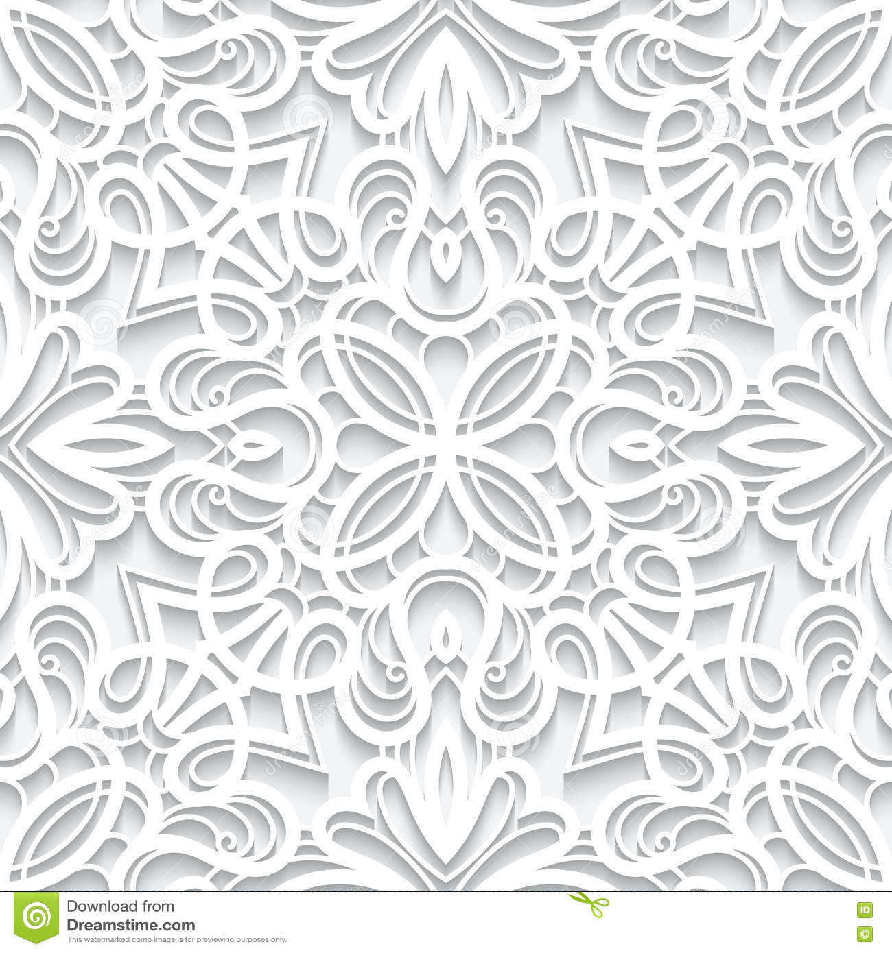 Cutout Paper Lace Texture, Seamless Pattern Stock Vector ...