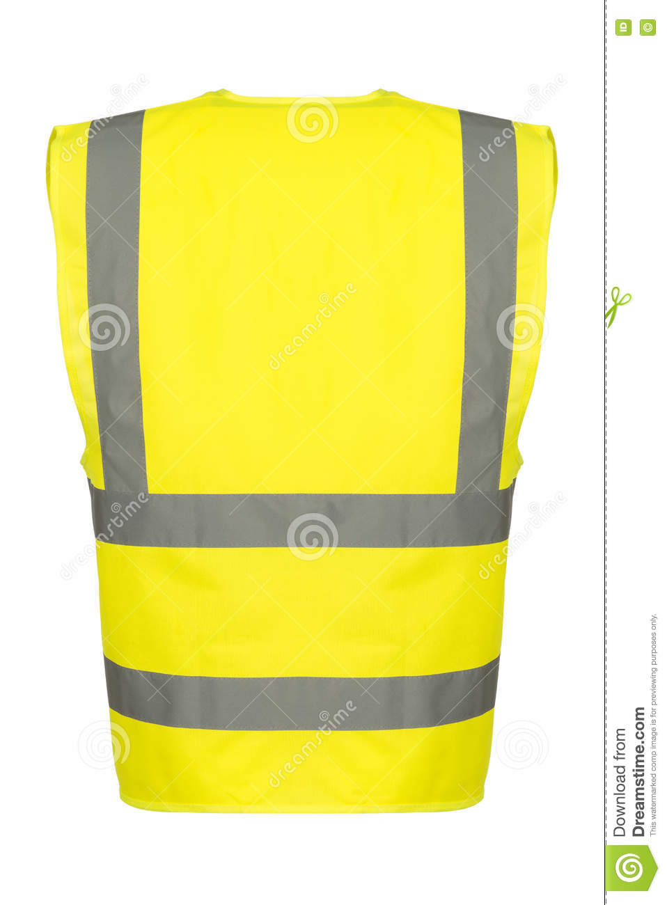 Cutout of Rear of Yellow Safety Vest