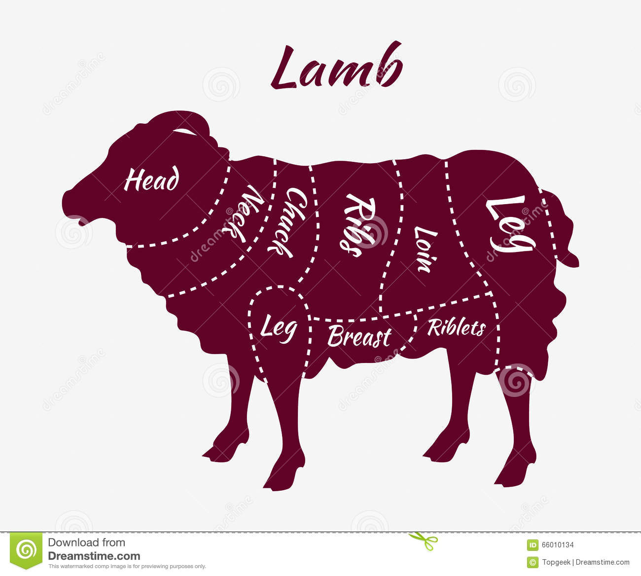 Cuts Of Lamb Or Mutton Diagram