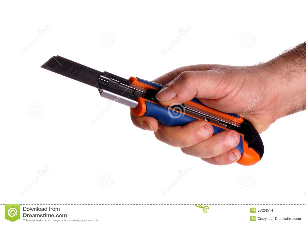 Cutter Hand Holding Knife on Z Metal For Carpet