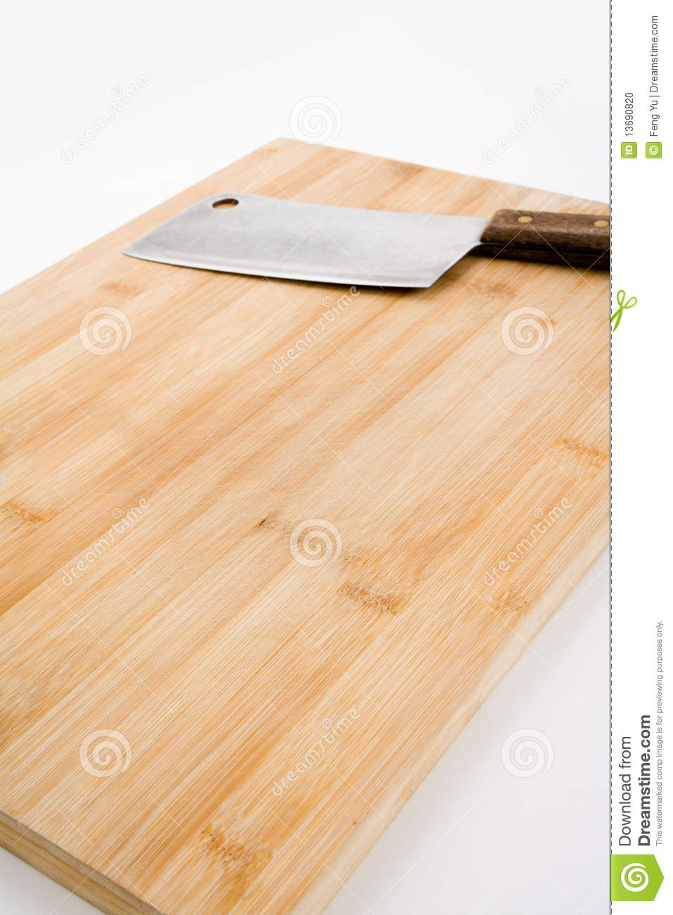 Cutting Board And Kitchen Knife Stock Photo Image 13690820