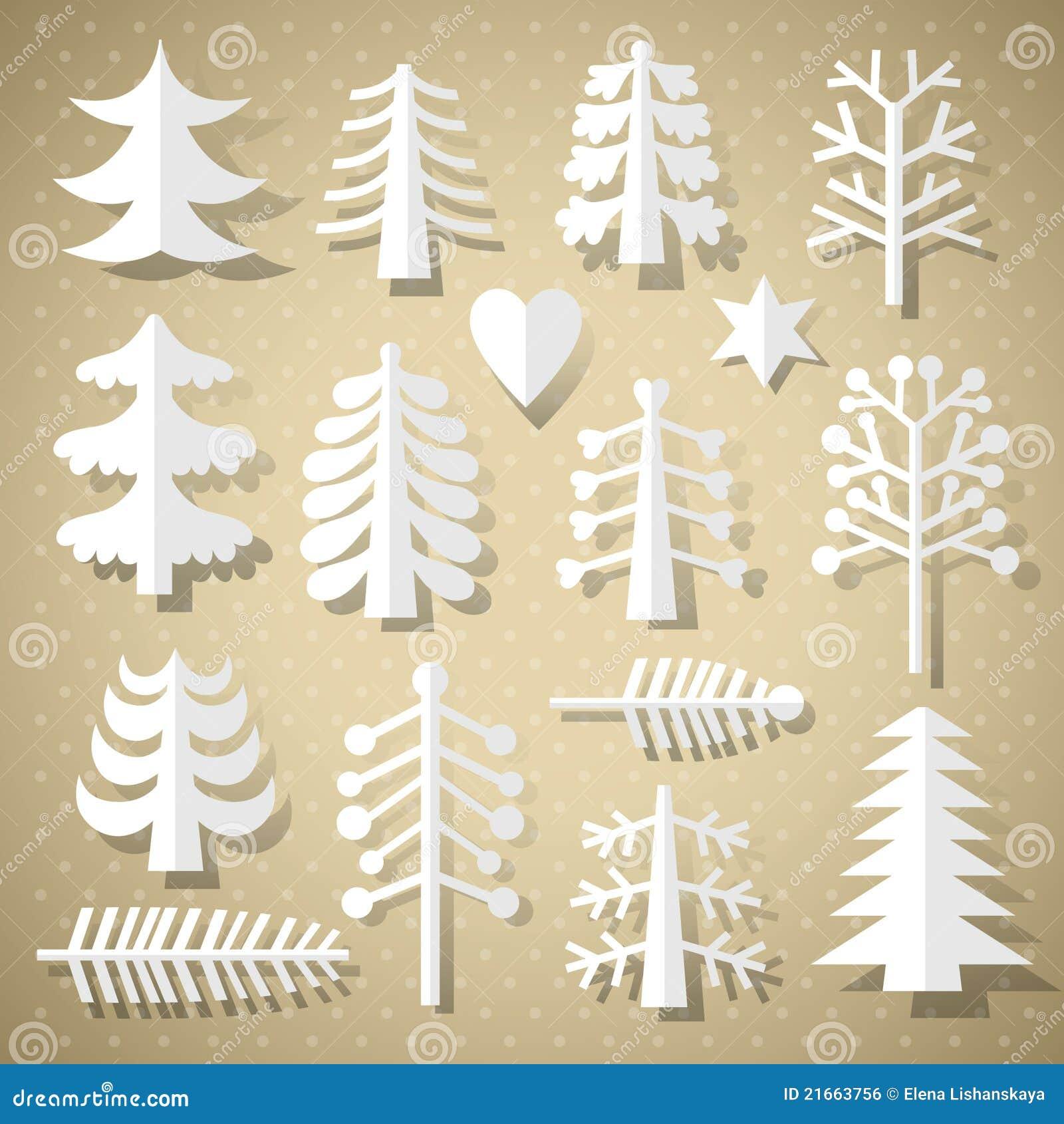 Вырезаем деревья из бумаги своими руками