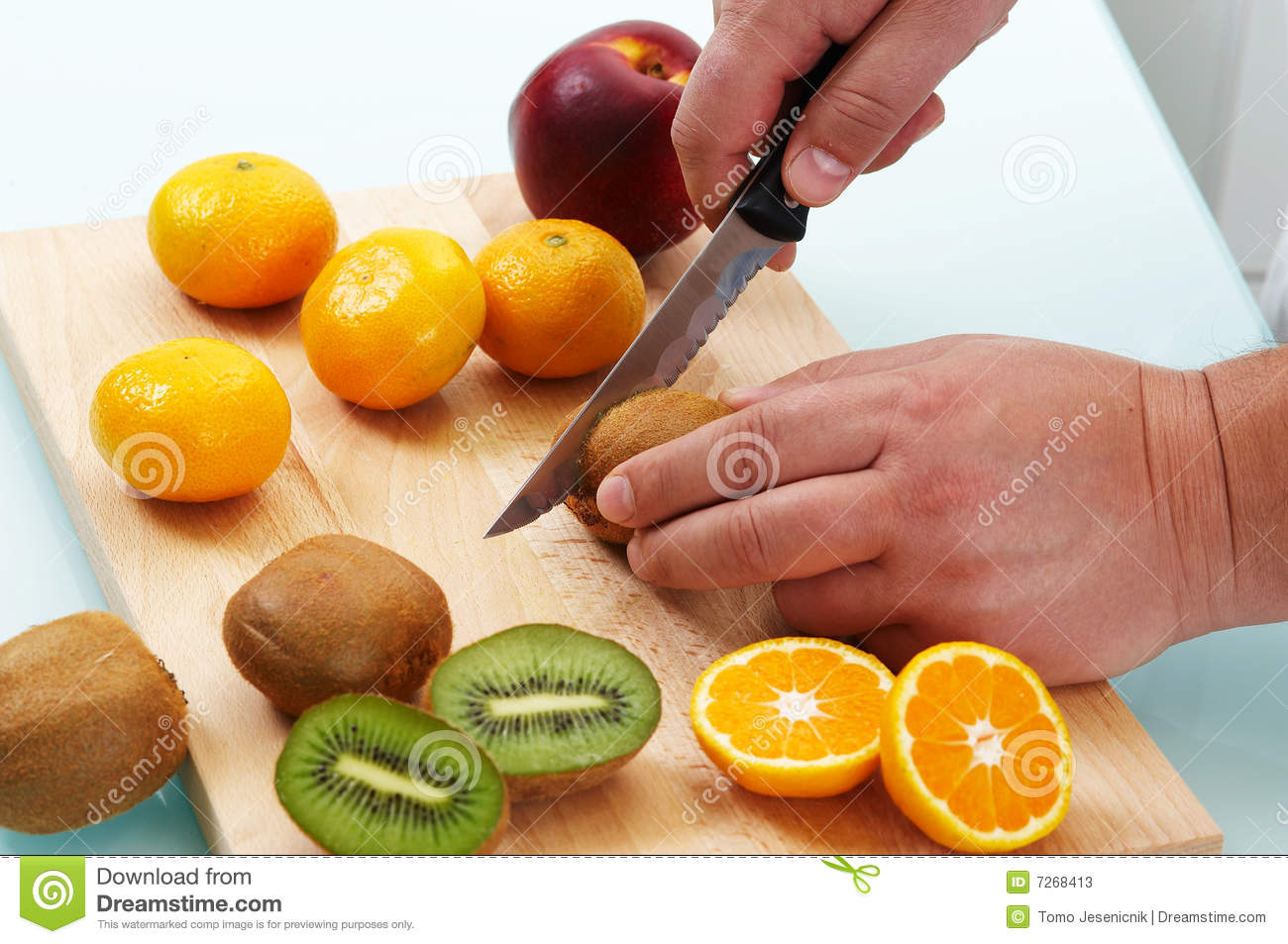 More similar stock images of ` Cutting different fruits `