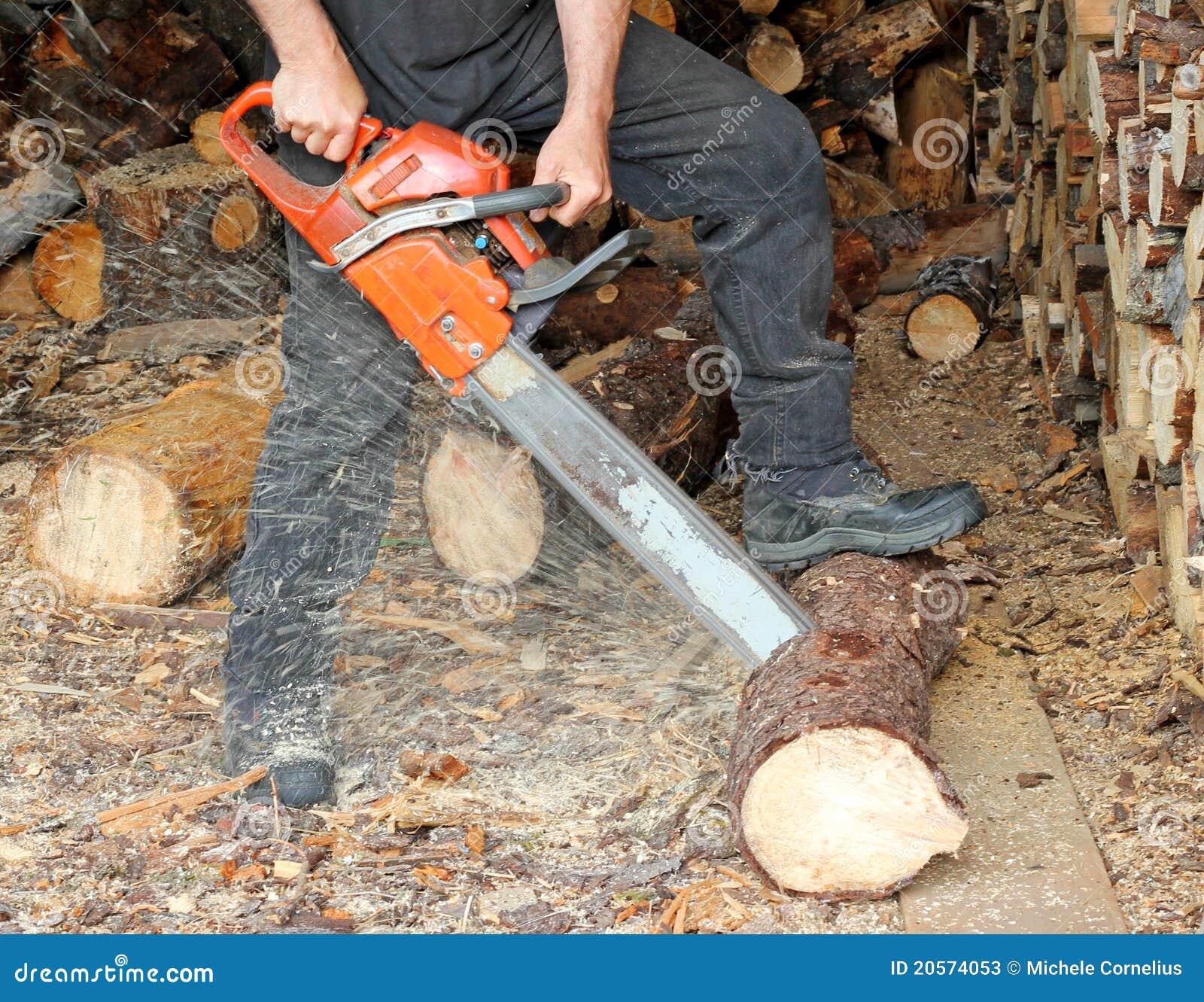 Cutting Firewood Stock Photos Image 20574053