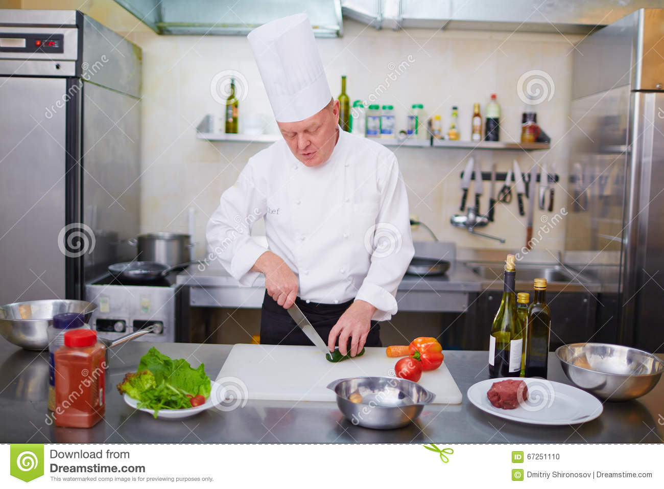 Cutting fresh vegetables stock photo image 67251110 for Fresh chef kitchen
