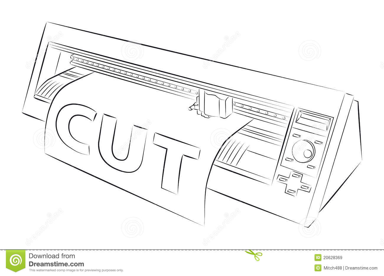 Cutting Plotter Royalty Free Stock Images Image 20628369