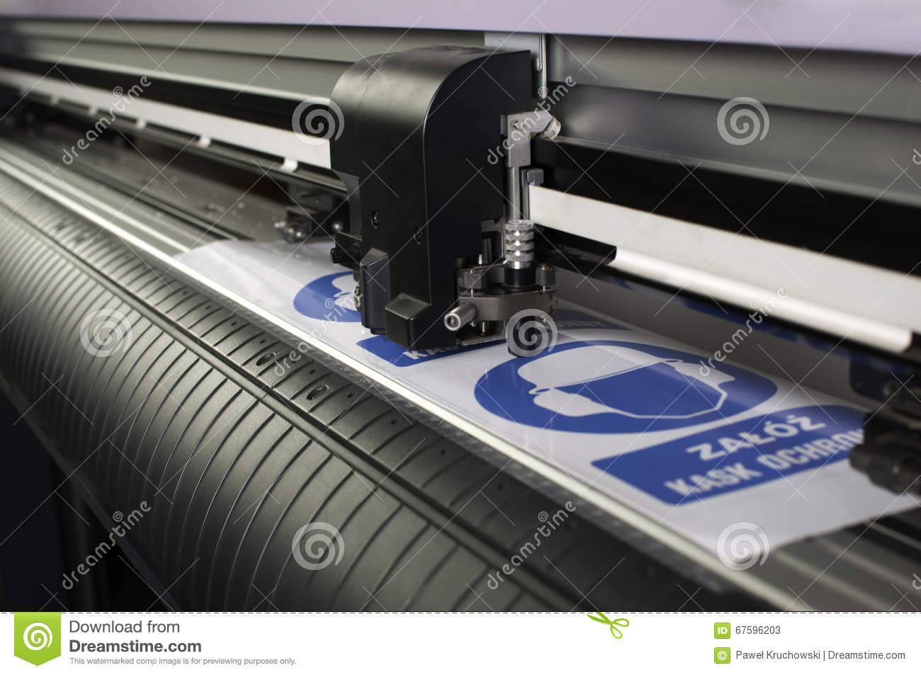 Cutting Plotter Stock Image Image Of Foil Cutting Plotter 67596203