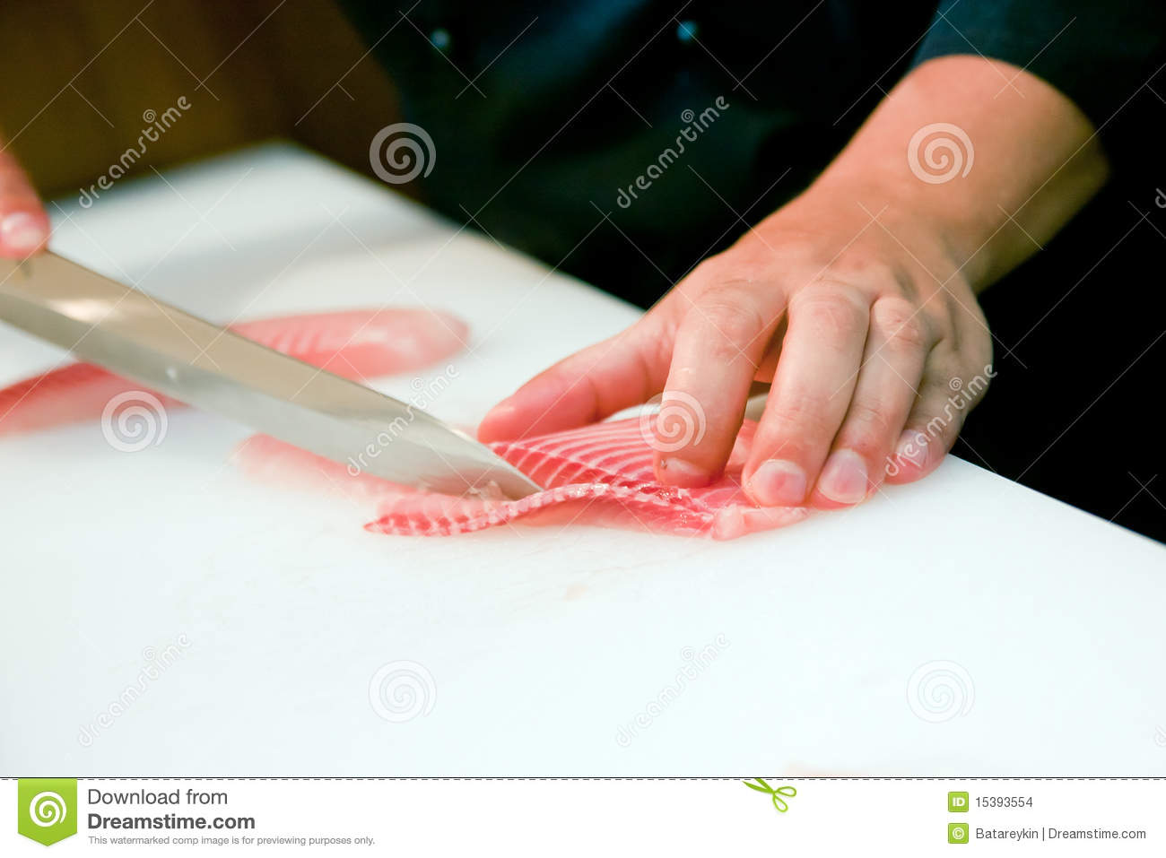 cutting red fish knife stock images image 15393554