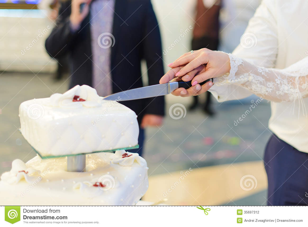 why cut wedding cake together cutting wedding cake together stock photography image 27455