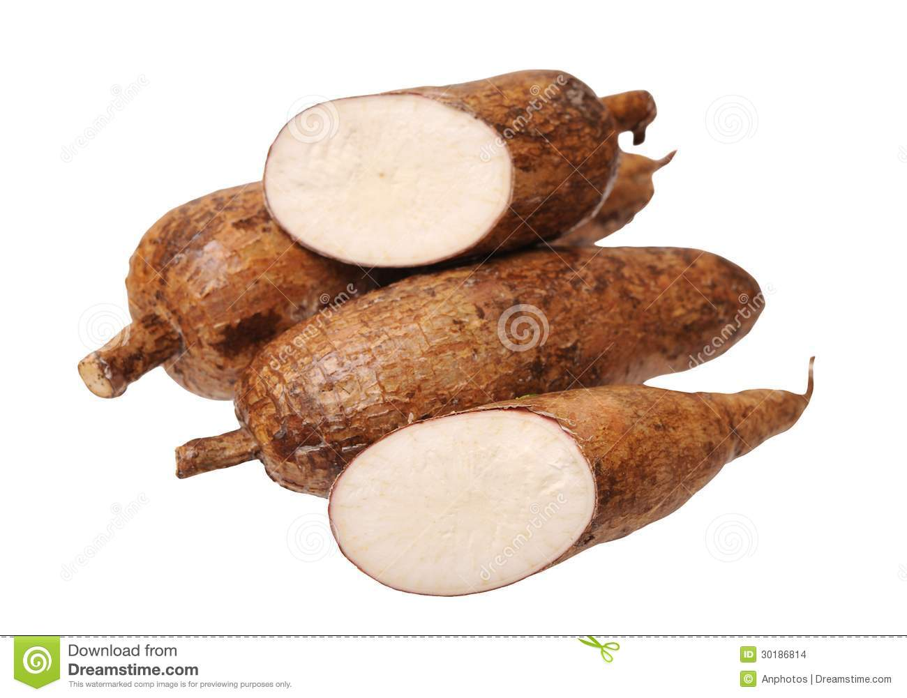 Cutting And Whole Manioc Stock Images - Image: 30186814