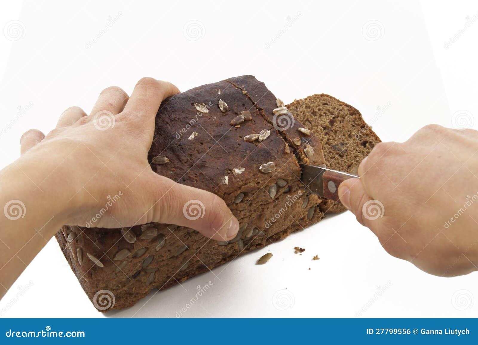 CuttingBrown bröd
