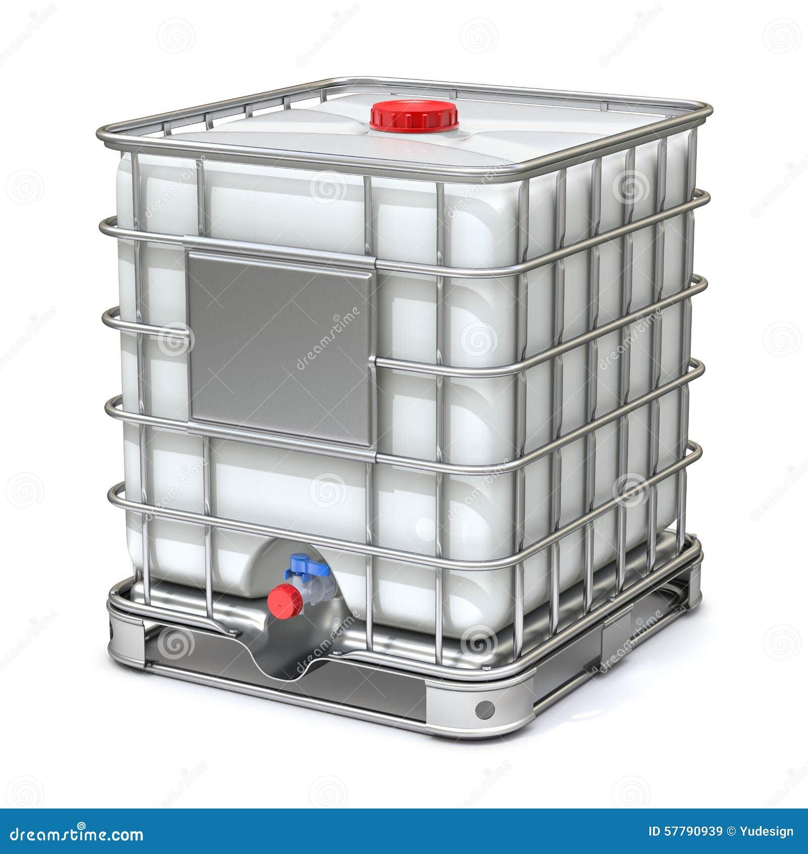 cuve de stockage en plastique blanche de l 39 eau illustration stock image 57790939. Black Bedroom Furniture Sets. Home Design Ideas