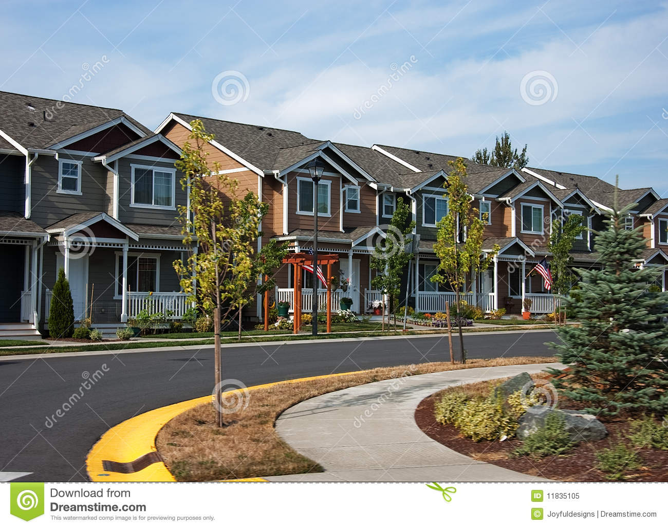 cuved row of modern townhouses royalty free stock photo daffodil clip art and rain daffodil clipart images