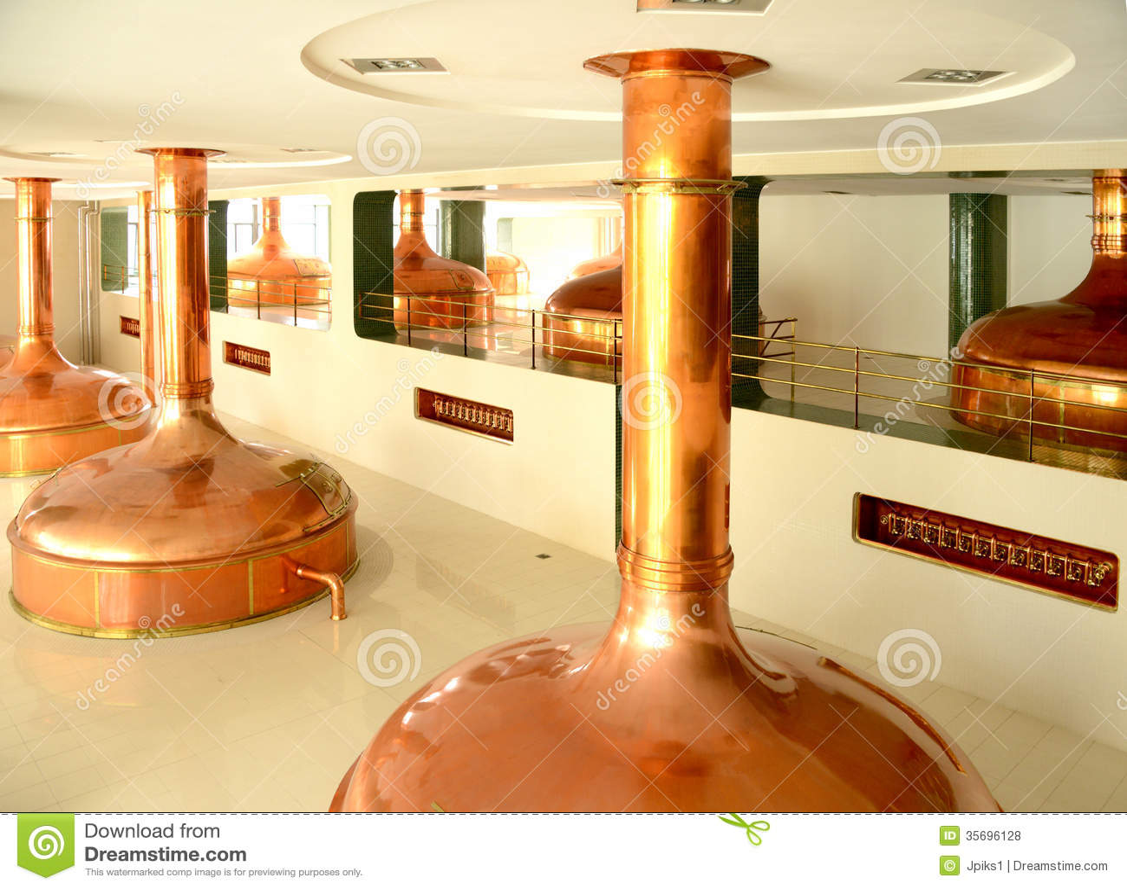 Cuves de brassage, brasserie de bière