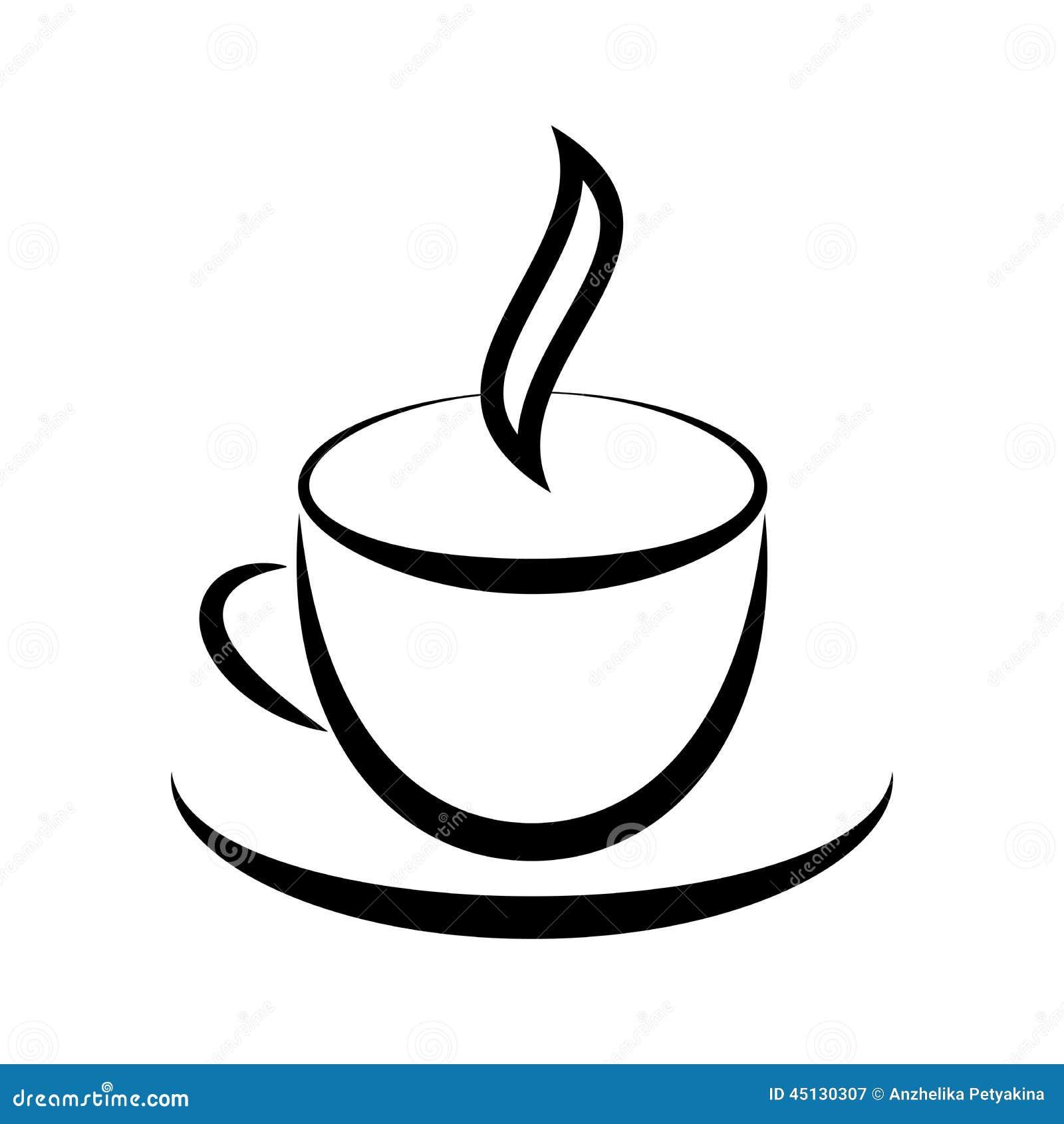 Illustration Stock Cuvette Avec La Boisson Chaude Image45130307 on Cartoon Coffee