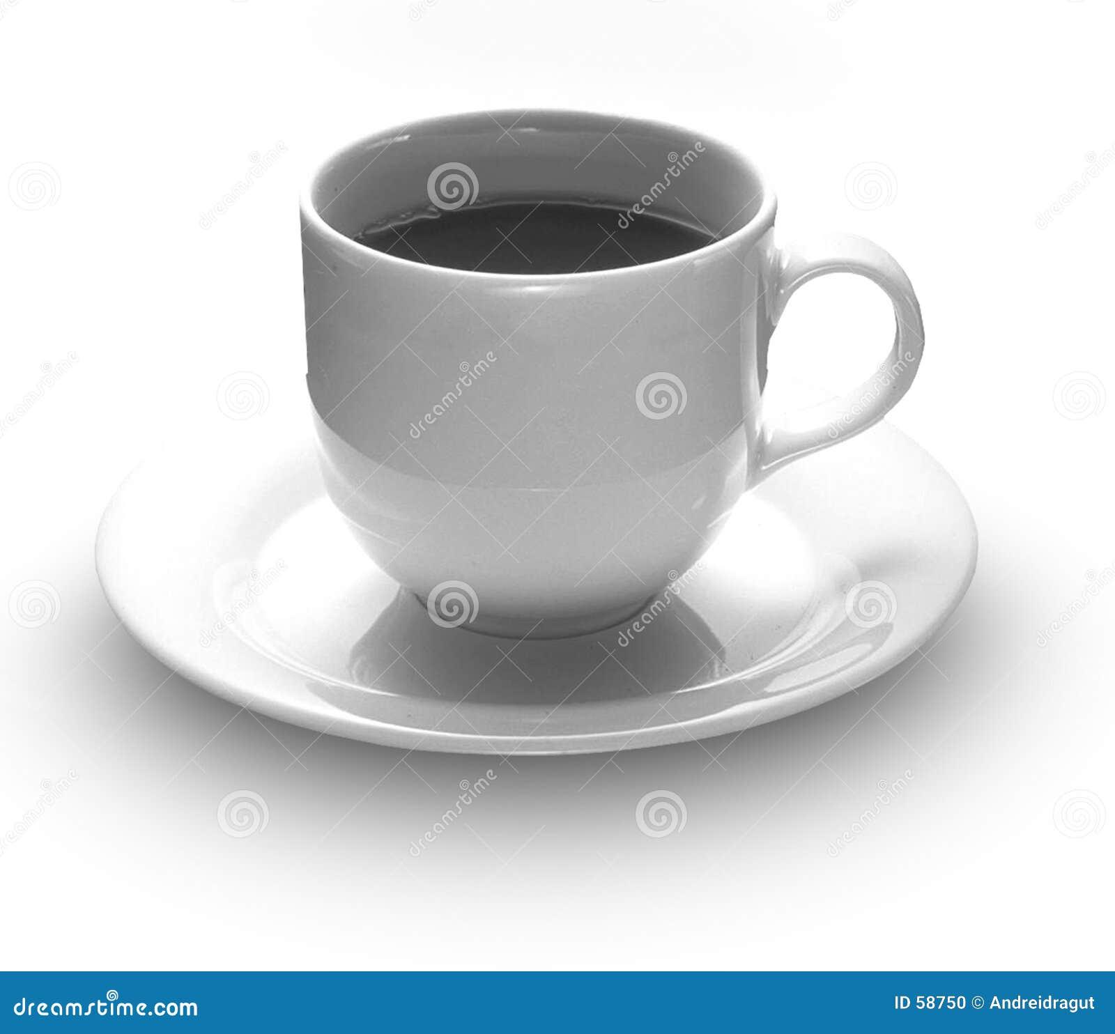 Download Cuvette de café photo stock. Image du boisson, cuvette, noir - 58750