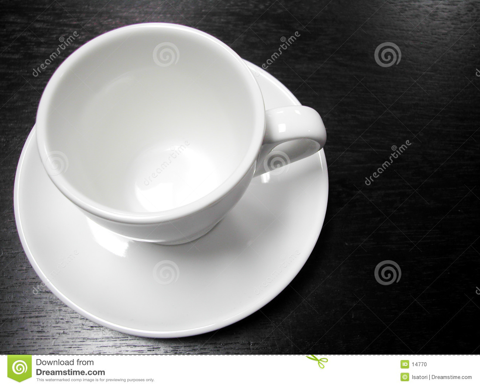 Cuvette de café blanc