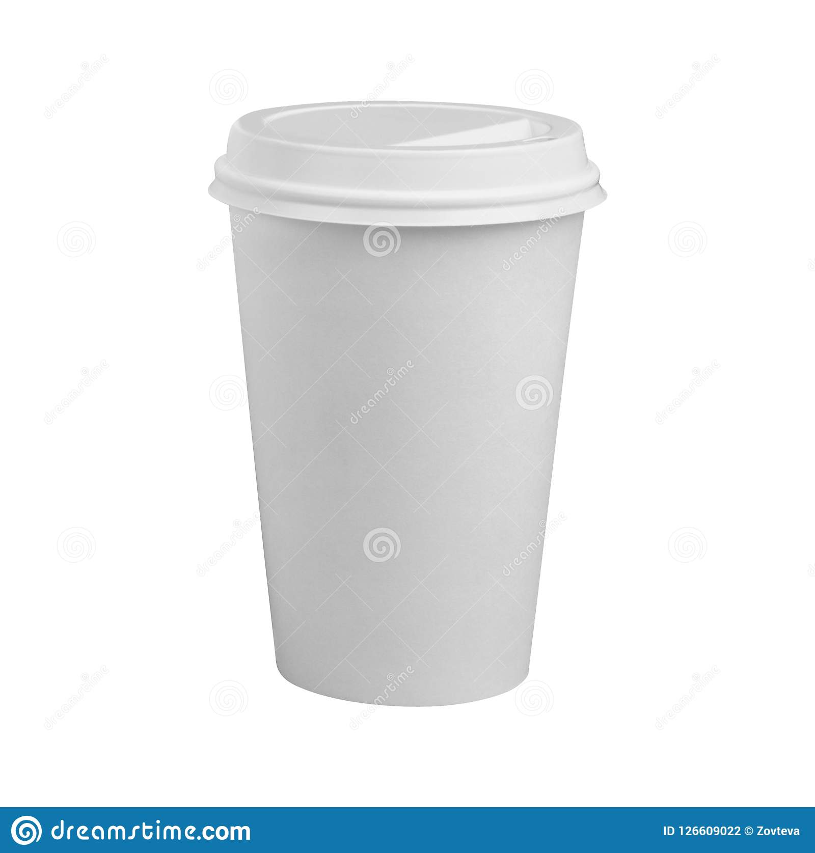 Cuvette de café d isolement sur le blanc