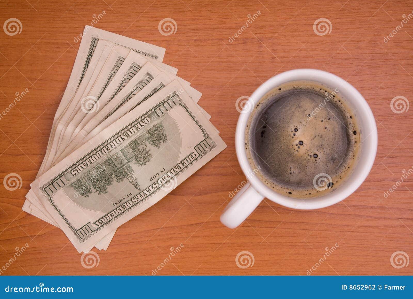 Cuvette de café et d argent