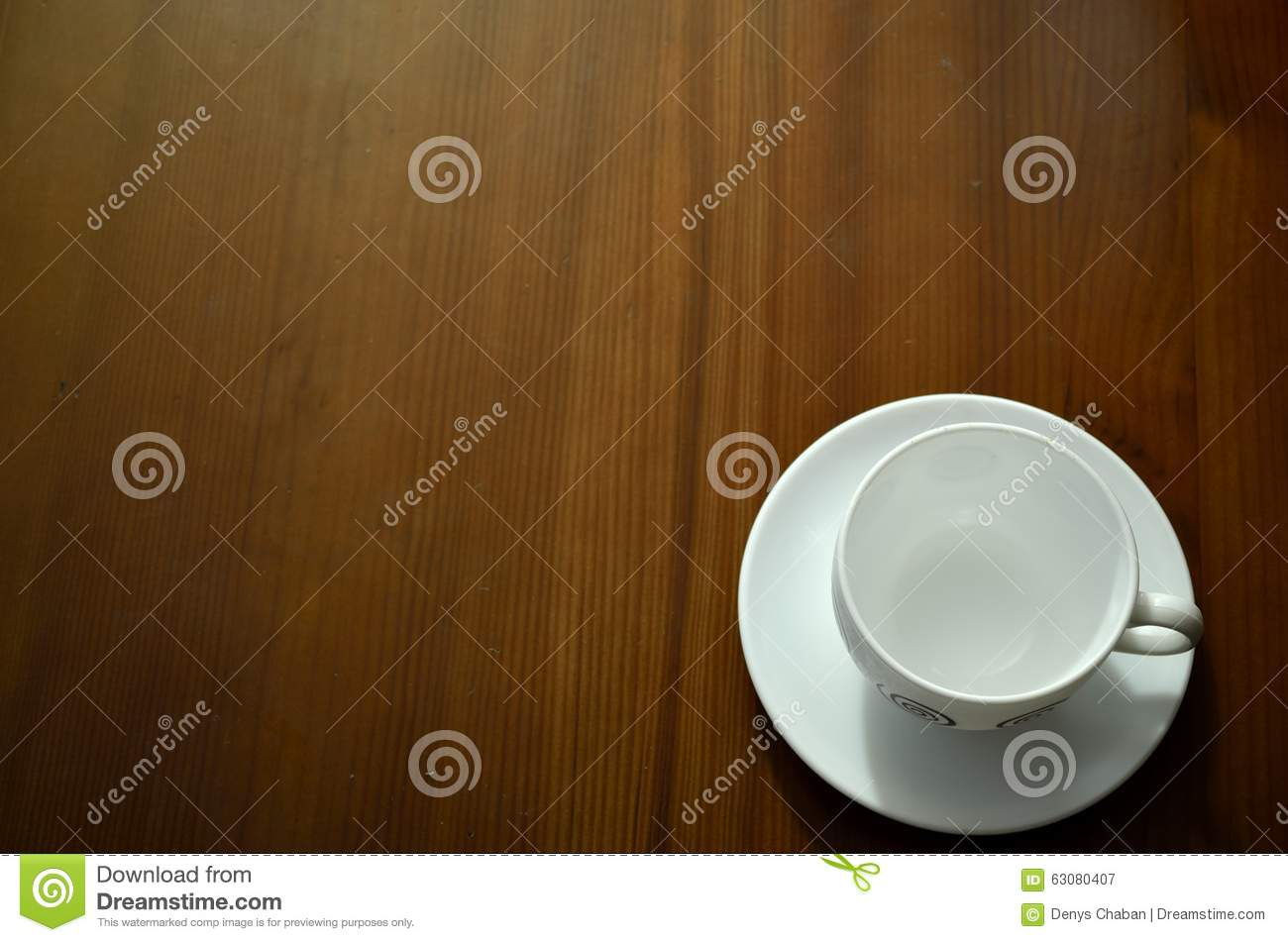 Download Cuvette De Café Sur La Table En Bois Image stock - Image du nourriture, closeup: 63080407