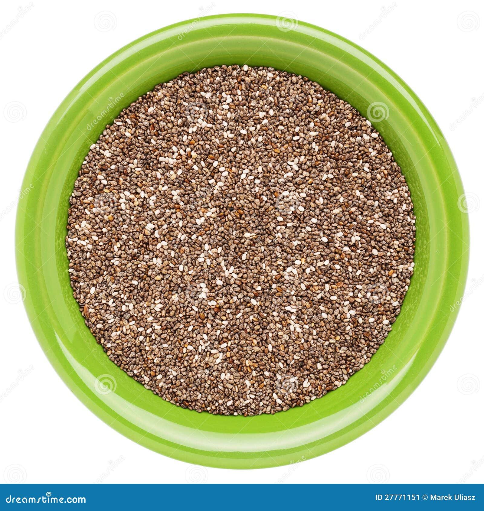 Cuvette de graines de chia