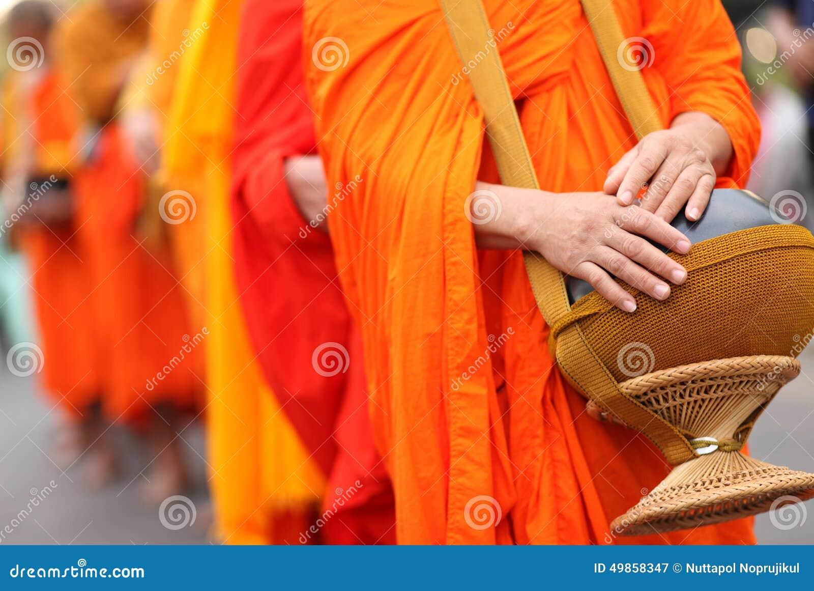 Cuvette de l aumône de moine bouddhiste, Thaïlande