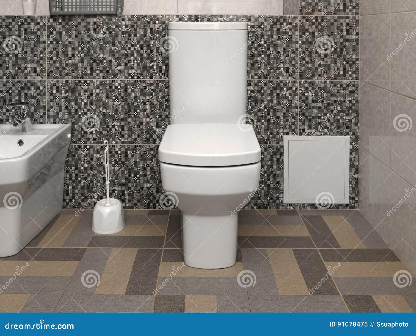 Cuvette Des Toilettes Moderne Blanche Image stock - Image du ...