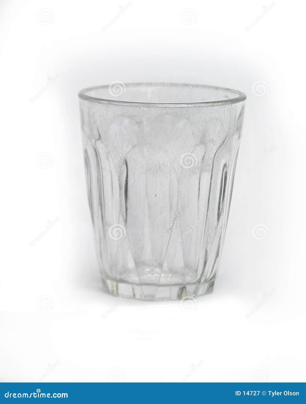 Cuvette en verre d isolement sur le blanc