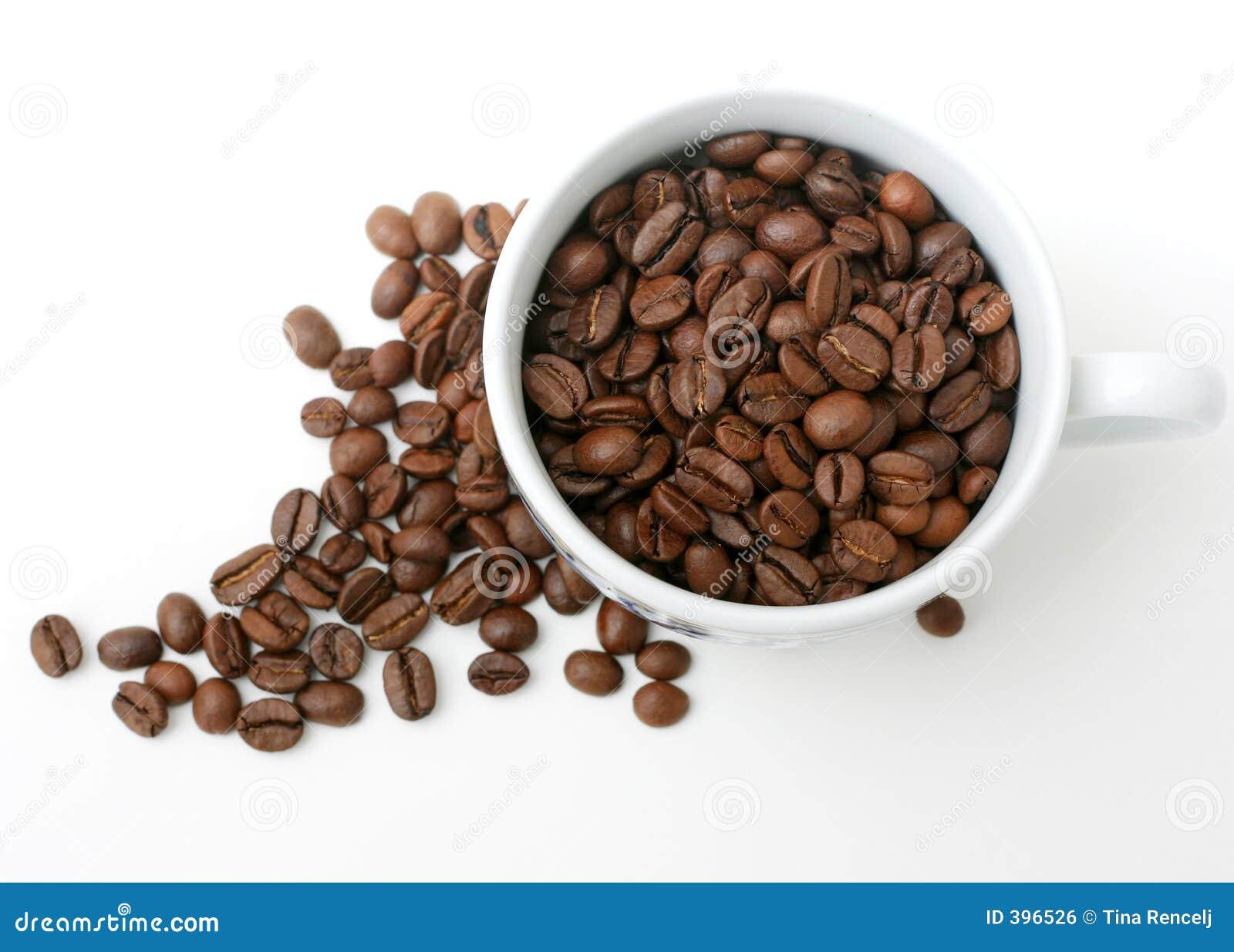 Cuvette et grains de café
