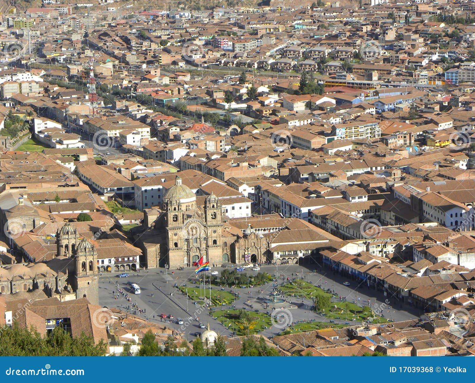 Cuzco - le capital antique du Pérou.