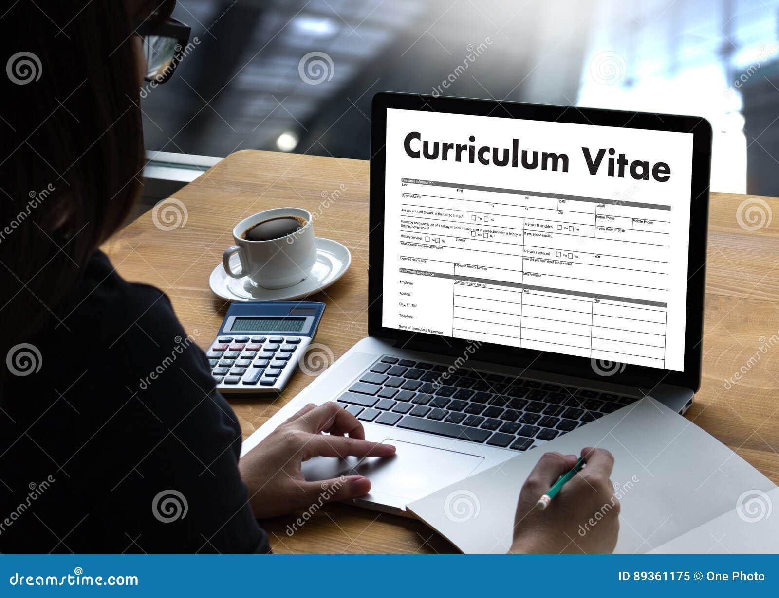CV -履历(与企业CV的工作面试概念关于