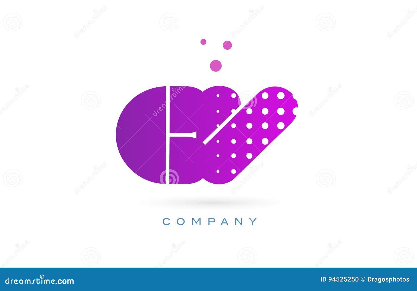 cv c v pink dots letter logo alphabet icon stock vector
