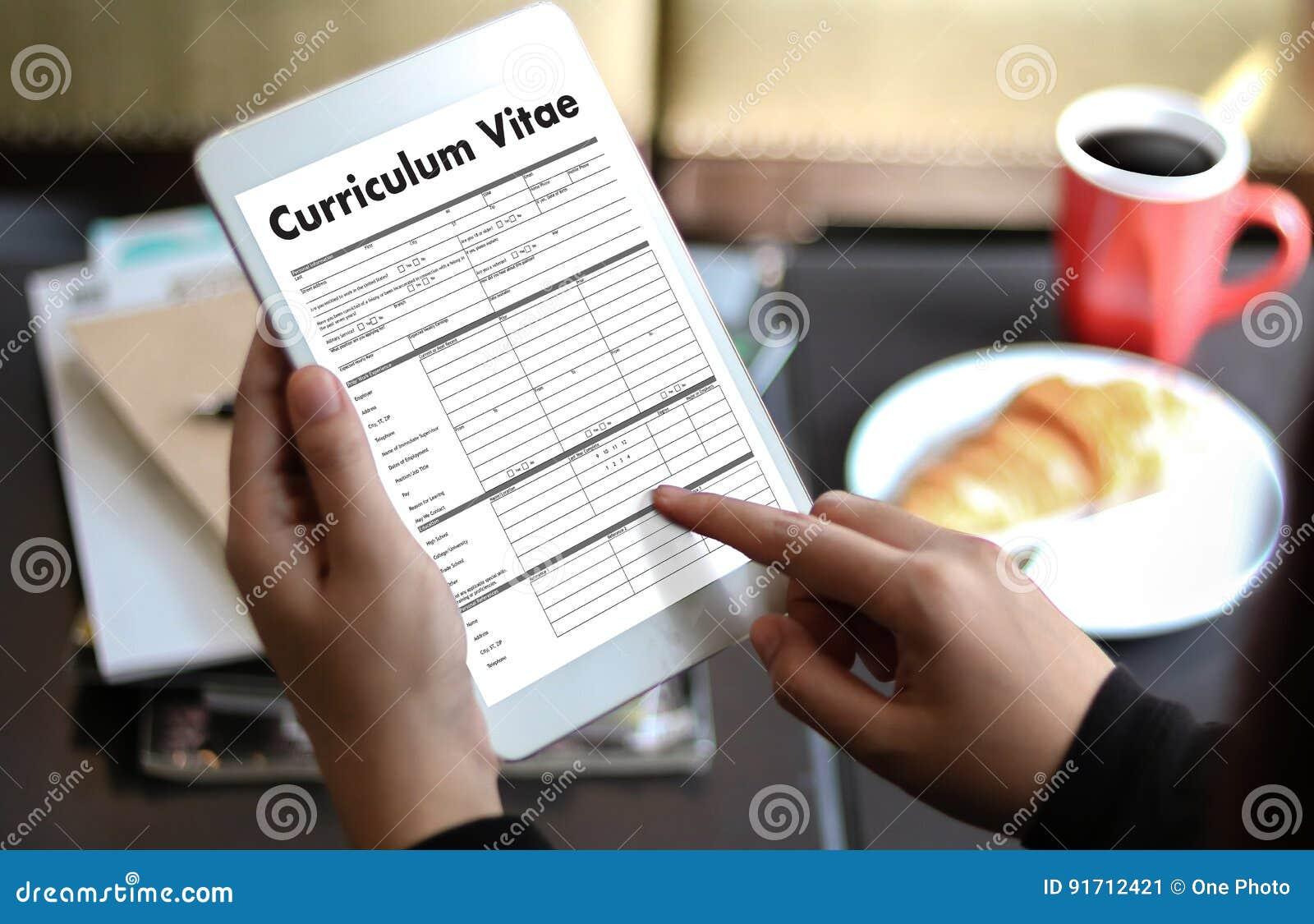 CV - Curriculum Vitae (concepto De La Entrevista De Trabajo Con El ...