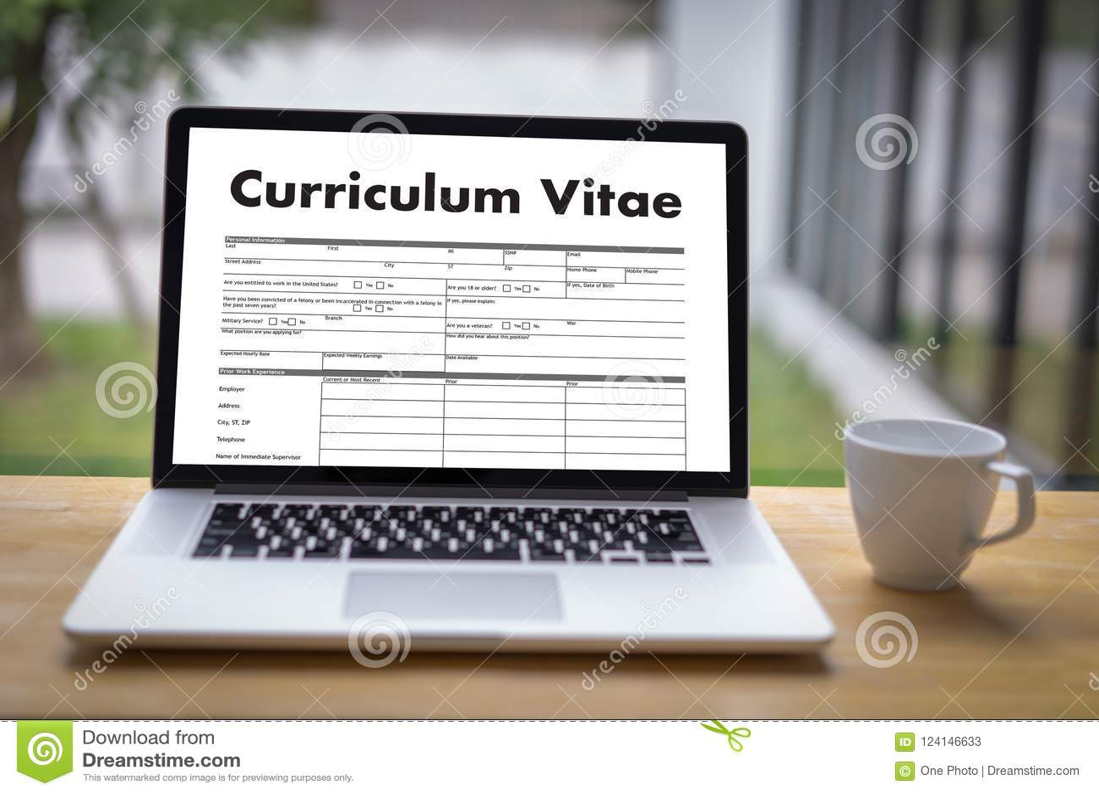 Cv Curriculum Vitae Job Interview Concept With Business Cv Re
